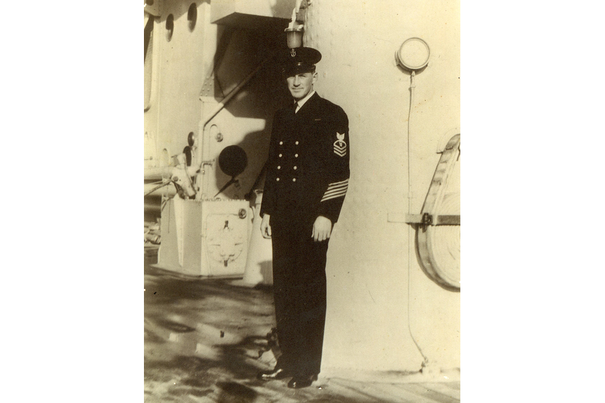 Chief Petty Officer James Booe, aboard the U.S.S. Oklahoma. The ship was destroyed on Dec. 7, 1941, in Pearl Harbor, Hawaii.