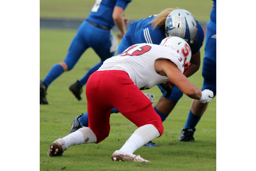 Matanzas graduate Daniel Dillard collided head to head with a Seabreeze defender last season.