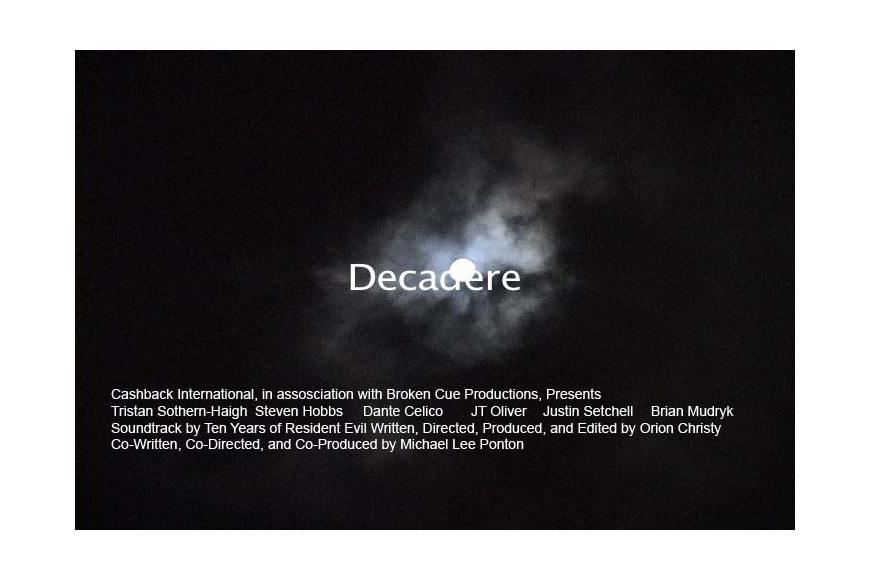 """Decadere"" can also be viewed online on YouTube.com."
