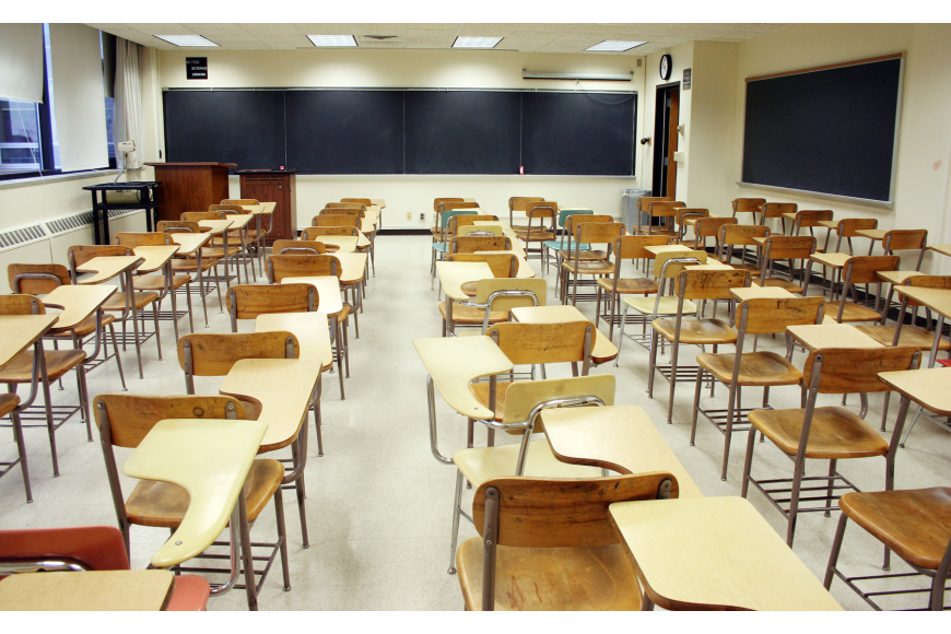 One money-saving proposition is to use empty classrooms more wisely. STOCK PHOTO