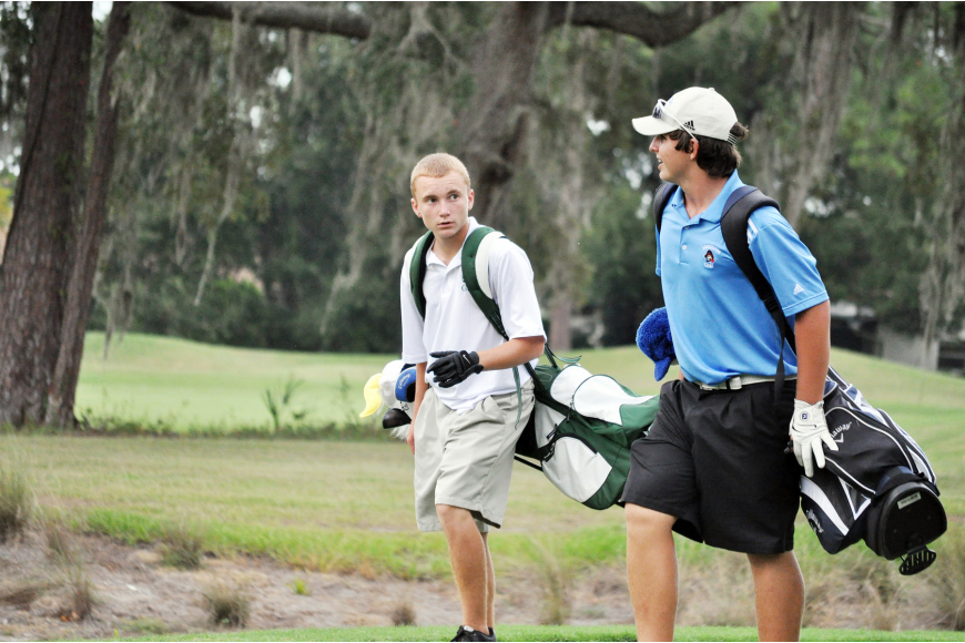 Joey Wright, of FPC, and Carter Subers, of Matanzas. PHOTOS BY SHANNA FORTIER