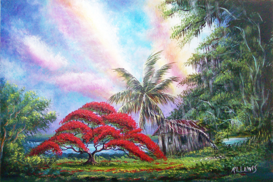 Artist R.L. Lewis will be in Flagler for a speech and painting presentation. The event is free and open to the public.