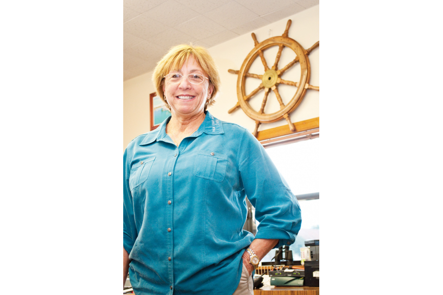 Harbormaster Debbie Hogan has worked at the Palm Coast Marina for 30 years.