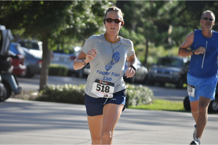 Dawn Lisenby, of Flagler Beach, finished the two-mile race 10th overall with a time of 16 minutes and 25-seconds.