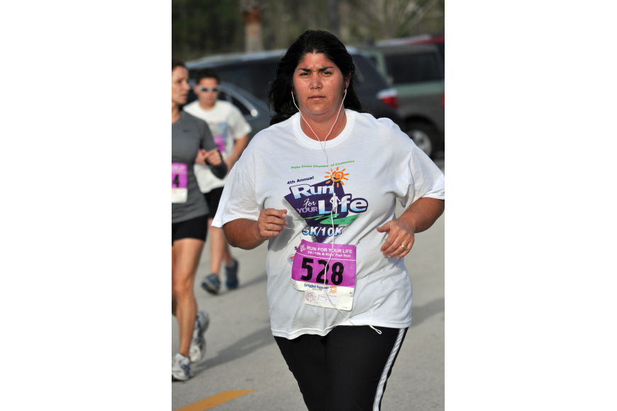 Cheryl Perry finished the 5K in 34 minutes and 13 seconds, fourth in her age range and 96 overall.