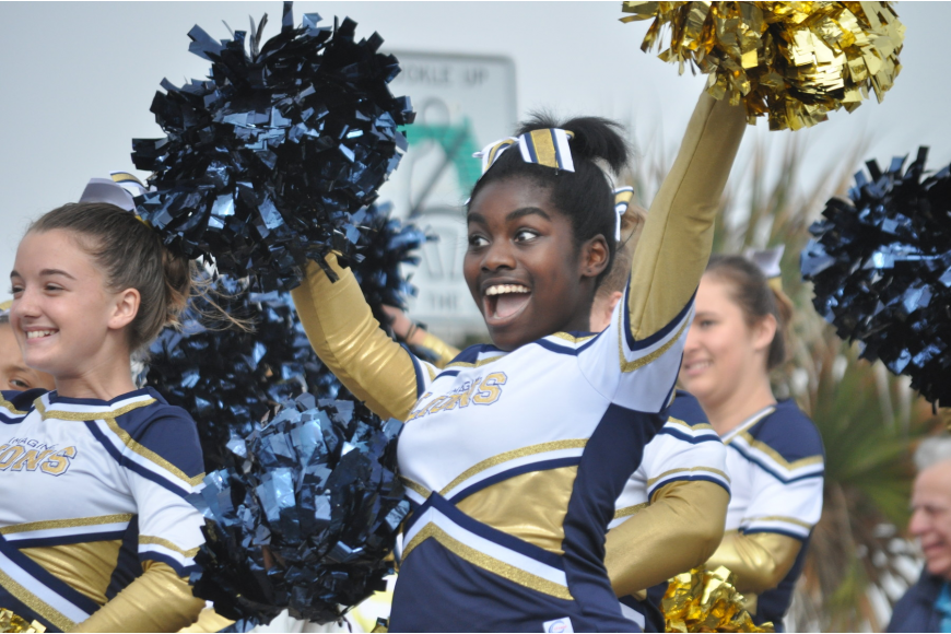 Adrienne Toles-Williams performs with the Imagine Spirit Team. The team won Best of Parade.