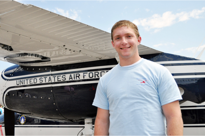 Jonathan Jenkins was accepted to the Air Force Academy Summer Seminar, at Colorado Springs. PHOTO BY SHANNA FORTIER