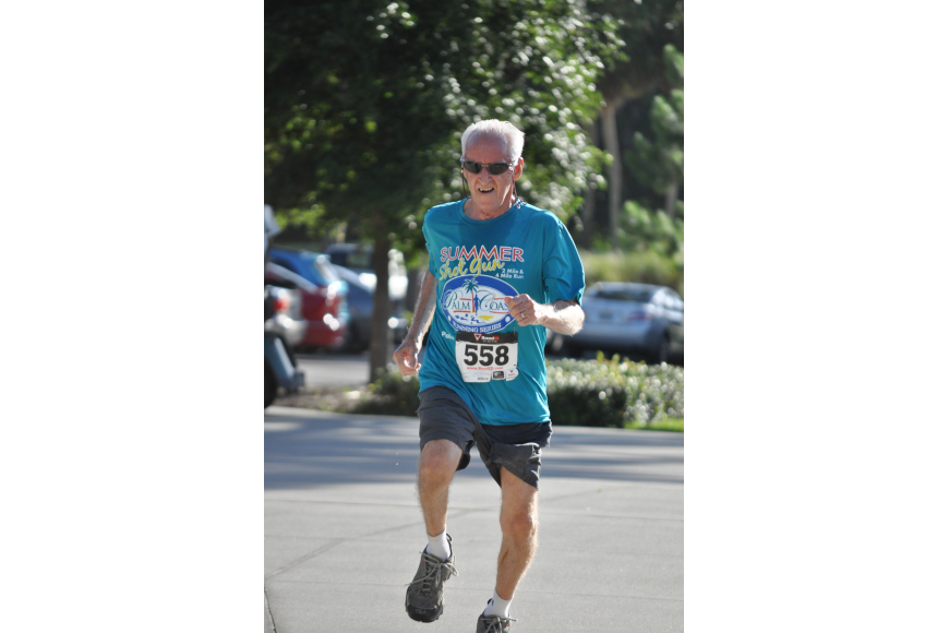 Ronald Gianpietro, 76, ran the two-mile in 24-minutes and 15-seconds.
