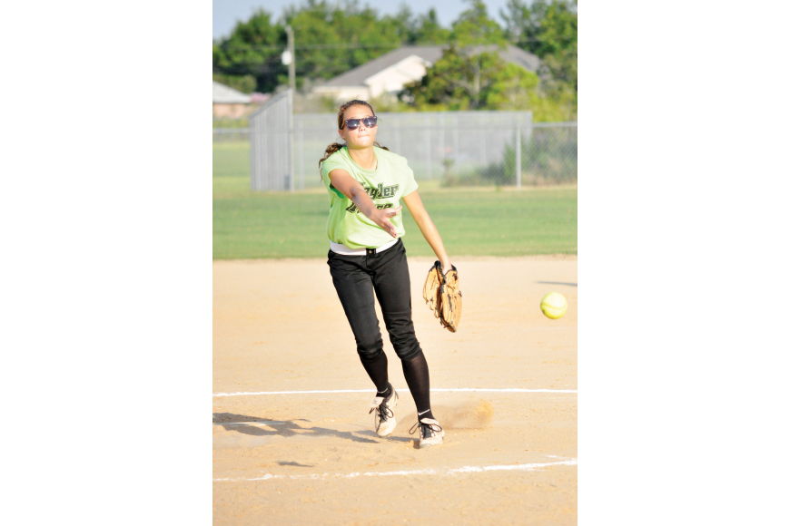 Anna Hardy played for the Flagler Force in a high school-aged softball league this summer. She is now a sophomore at Flagler Palm Coast High School.