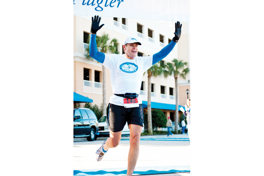 Dr. Ed Prevatte, of Palm Coast, finished the first Palm Coast half marathon 58th overall out of 183 with a time of 1:49:42.