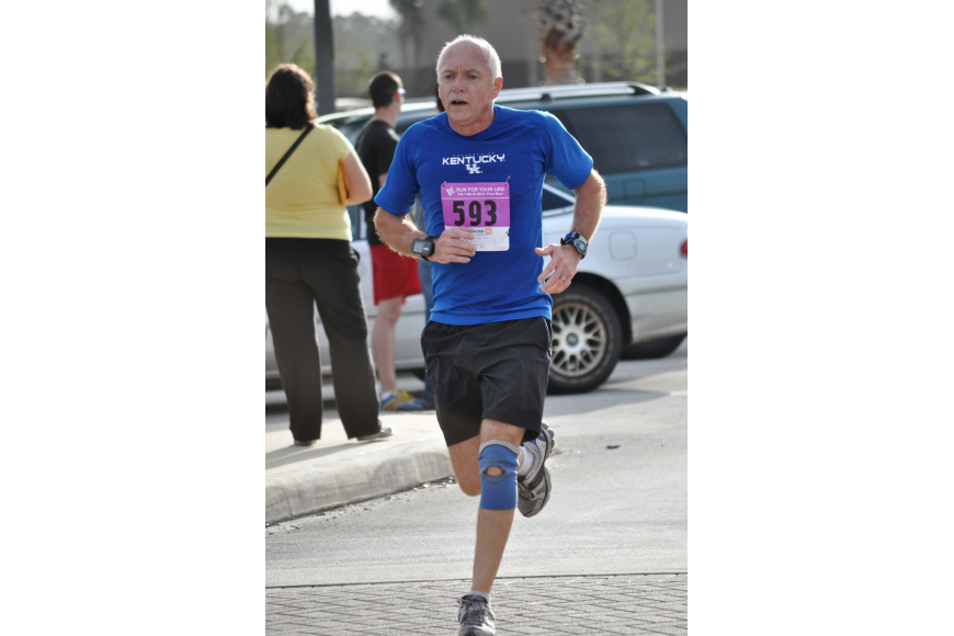 Donnie Walker finished the 5K first in his age division.