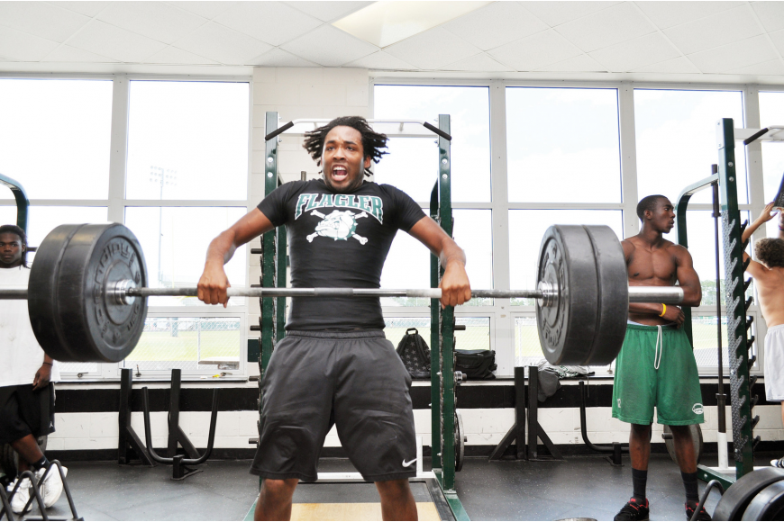 Adam Mitchell, a 2011 senior, competed in the 199-pound class for the Flagler Palm Coast weightlifting team.