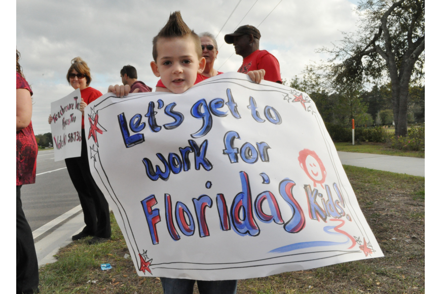 Lukas Cottle, 5, advocates for his education