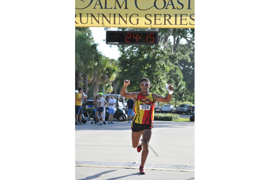 Jose Musso, of Palm Coast, finished third in the four-mile race.