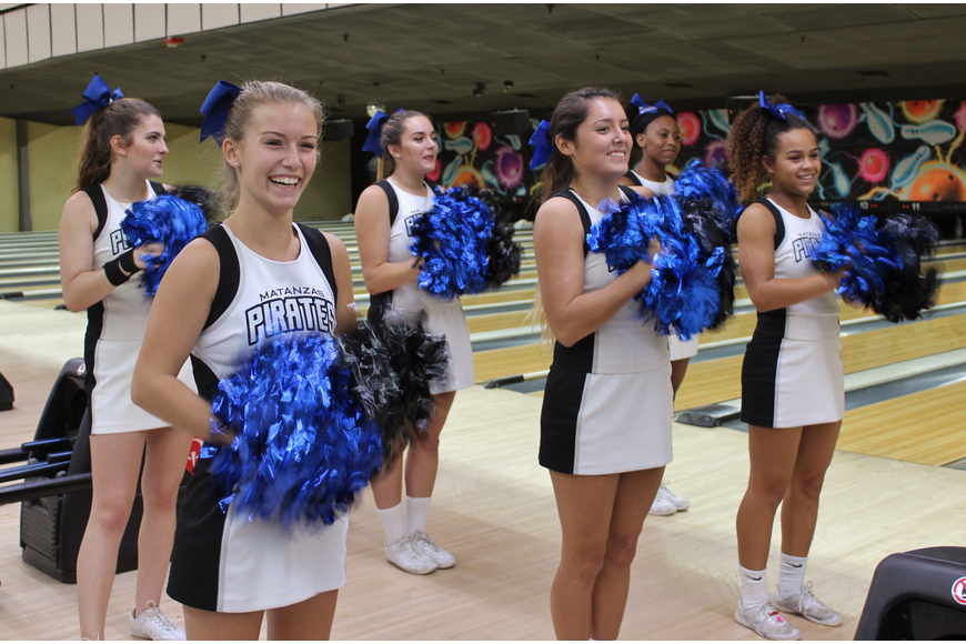Matanzas upped the ante by bringing their cheerleaders to root on their teams. Photos by Jeff Dawsey