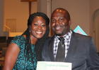 Jessica and Jeff Dawsey pose with his ordination certificate Sept. 18. Photo by Brian McMillan
